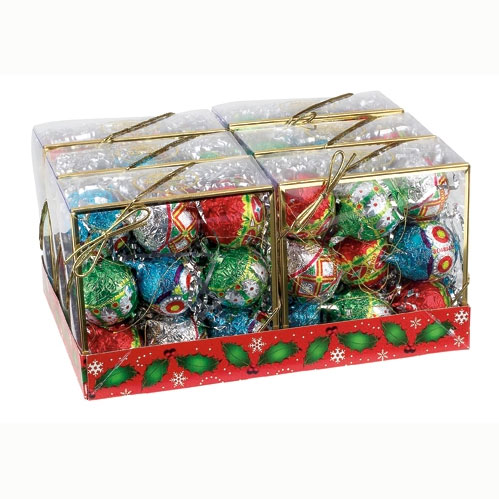 milk chocolate trim up ball ornaments gift packs 9599